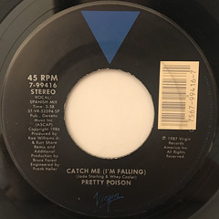PRETTY POISON:CATCH ME (I'M FALLING)(LABEL SIDE-B)