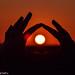 Sunset hands