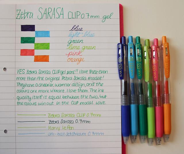 Zebra Sarasa Clip Gel Pens @ZebraPen @ZebraPenUK 1
