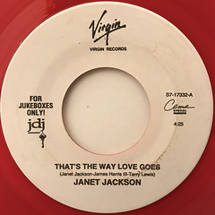 JANET JACKSON:THAT'S THE WAY LOVE GOES(LABEL SIDE-A)