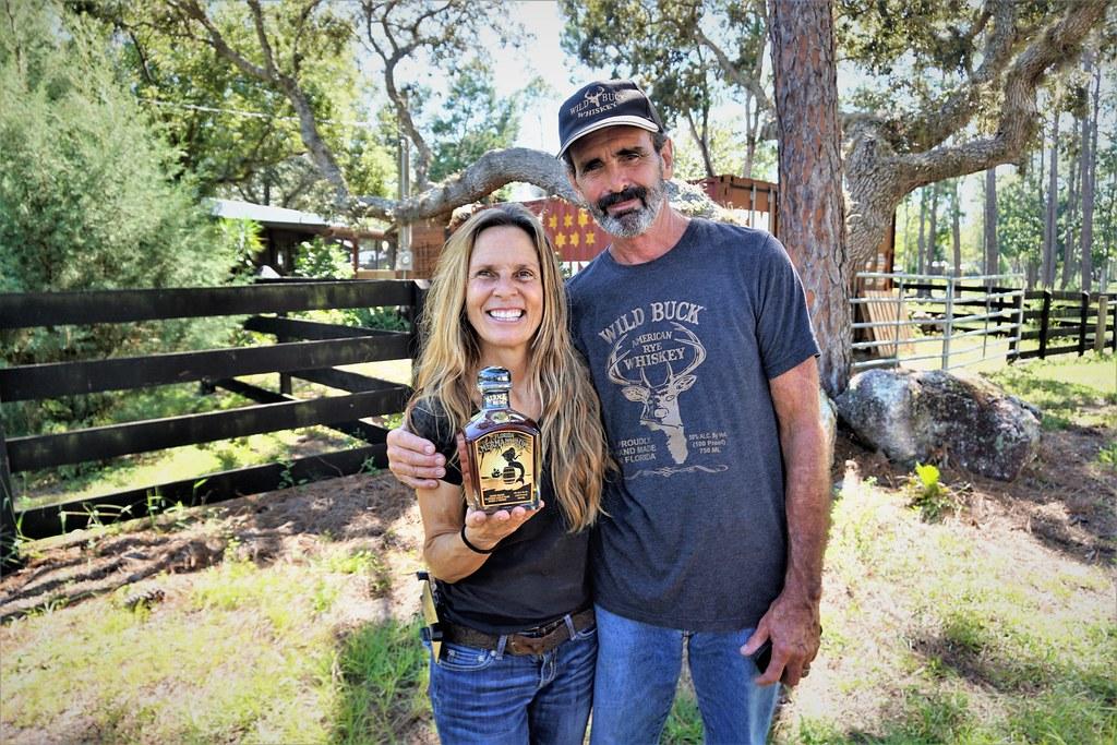 Natalie Joy and Kevin Goff of NJoy Spirit's Distillery, Brooksville, Fla, Sept. 14, 2018