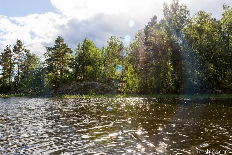 Скалистый берег, залив Лехмалахти, Ладожское озеро