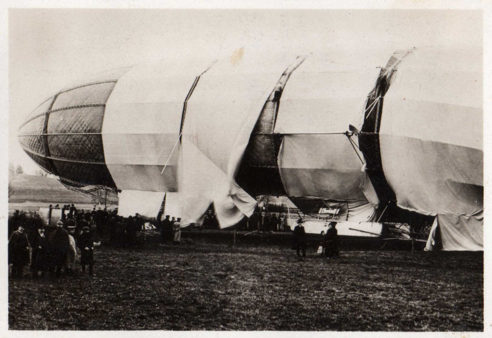 The Zeppelin LZ 2 destroyed, January 18, 1906.