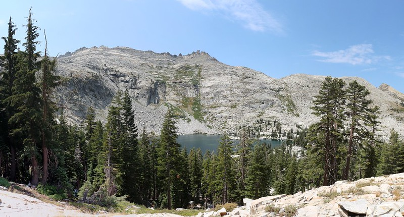 Clyde Lake with Mount Price on the left from the Rubicon Trail