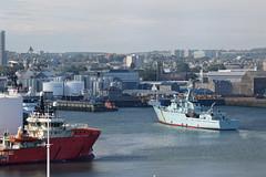 MPV Jura and Aberdeen harbour/skyline