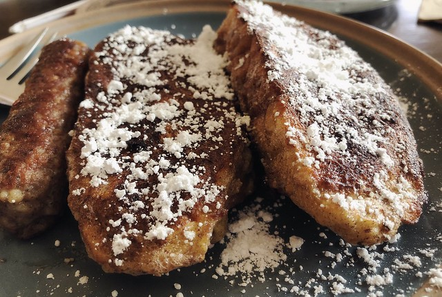 French toast. It's what's for breakfast. 🍞