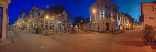 pärnu city estonia street view evening september autumn tourism