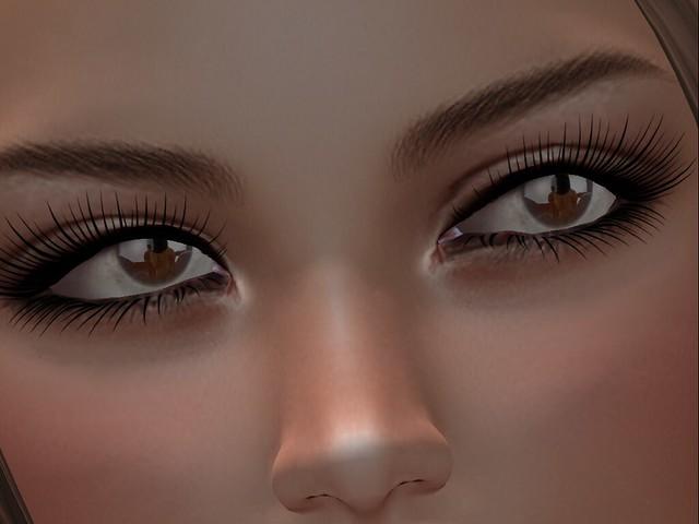 Adoring her adorable eyes...