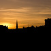 silhouette sunset in NEWCASTLE UPON TYNE