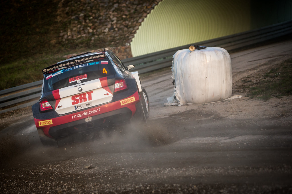 04 GRYAZIN Nikolay (LVA), FEDOROV Yaroslav (RUS), SPORTS RACING TECHNOLOGIES, Skoda Fabia R5, action during the 2018 European Rally Championship Rally Poland at Mikolajki from September 21 to 23 - Photo Thomas Fenetre / DPPI