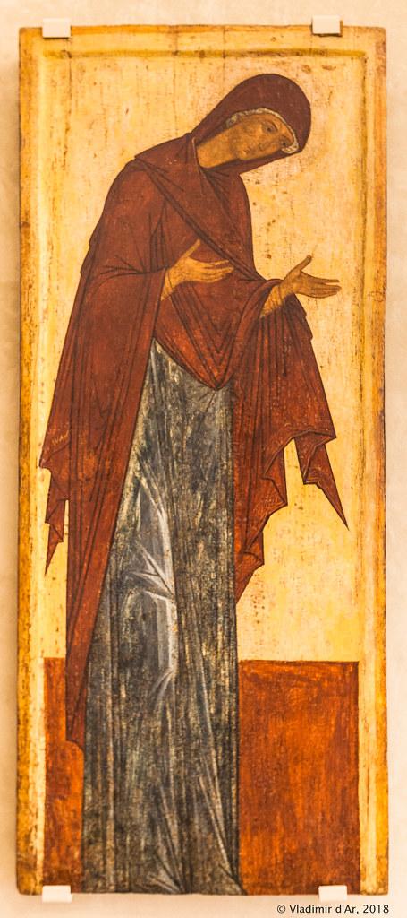 Икона Богоматерь из деисусного чина (Миропросительница)