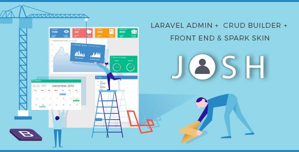 Josh v5.12.7 - Laravel Admin Template + Front End + CRUD