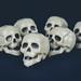 Skulls on dark background by wuestenigel