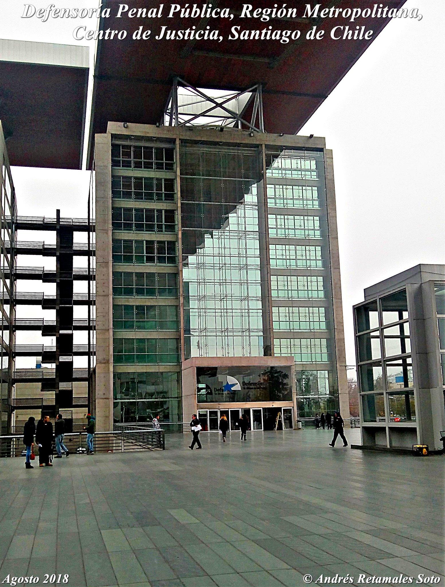 Defensoría Penal Pública, Región Metropolitana, Centro de Justicia, Santiago de Chile, agosto 2018