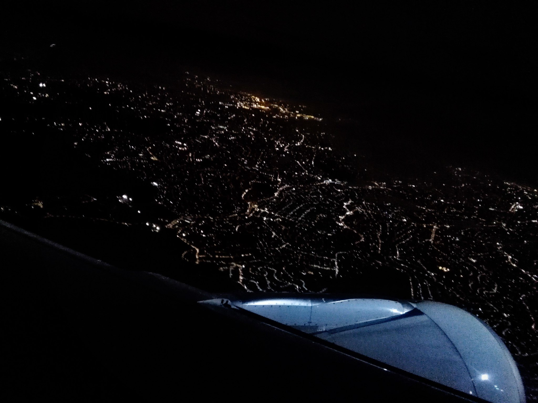São Paulo at night from the air