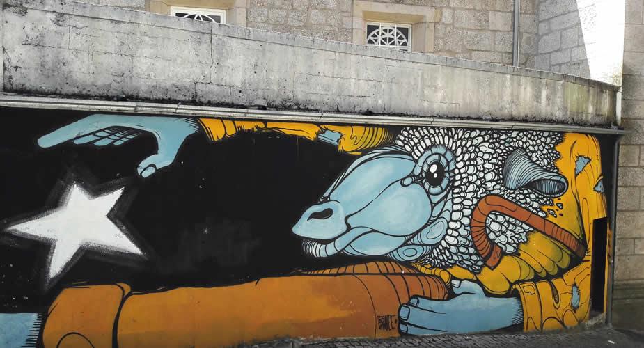 Street art Gijs Vanhee, Covolhã Portugal | Mooistestedentrips.nl