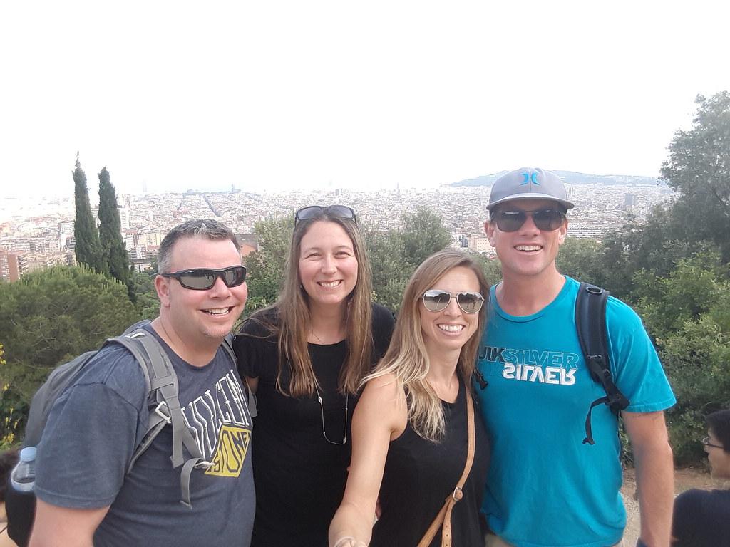 selfie from Carmel Bunkers, overlooking Barcelona Spain