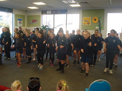 Shirley Primary School Kapa Haka Group performs