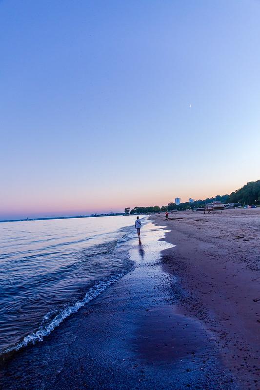 twilight walk down water