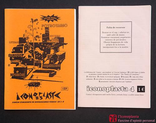 Iconoplastes n. 3 i  n. 4, fanzine d'opinió personal de Ferran Cerdans Serra