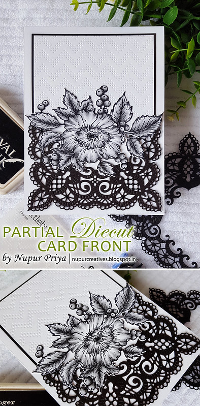 Partial Diecut card Front pinterest