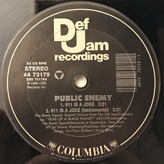 PUBLIC ENEMY:911 IS A JOKE(LABEL SIDE-A)