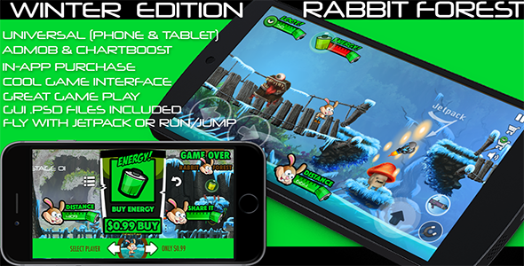 Rabbit Forest – iOS – Android – iAP + ADMOB + Leaderboards