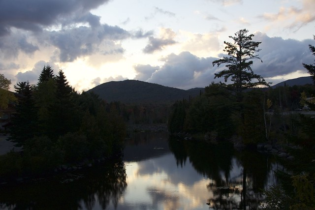 Lake Placid  - New York ~  Autumn Colours in the Adirondack Mountains  -  Silhouette