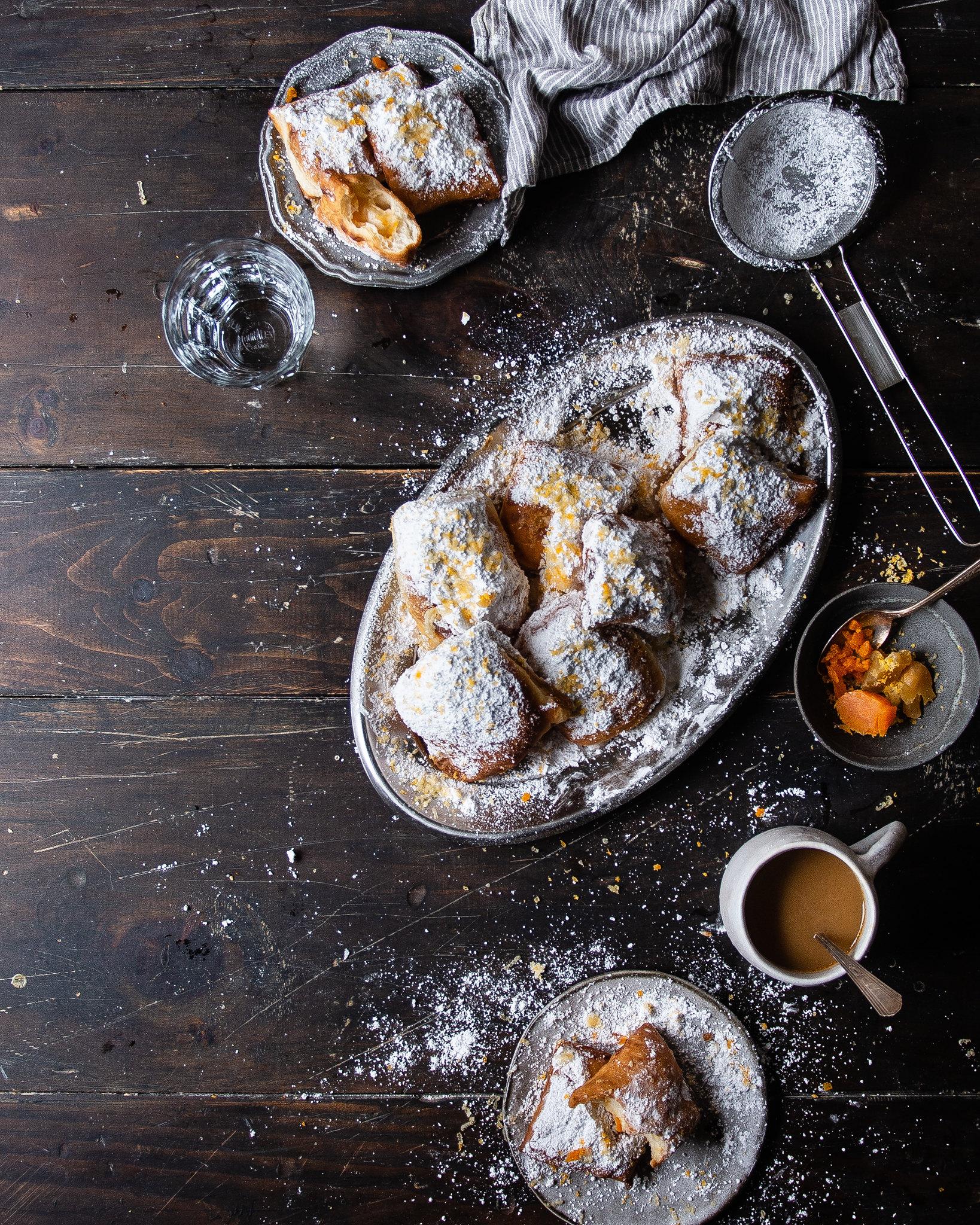 salted yolk & lotus paste beignets