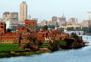 The Nile flows through Cairo