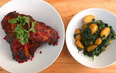 GOAN TANDOORI PORK RIBS WITH ALOO PALAK