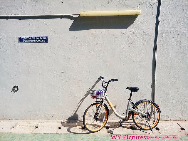 2018. Singapore. No parking for motorcycles. Not bicycles.