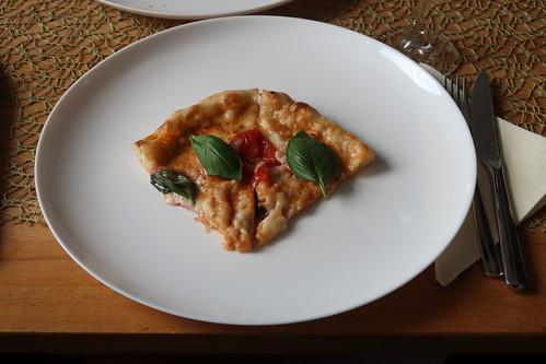 Pizza Margherita (mein Viertel)