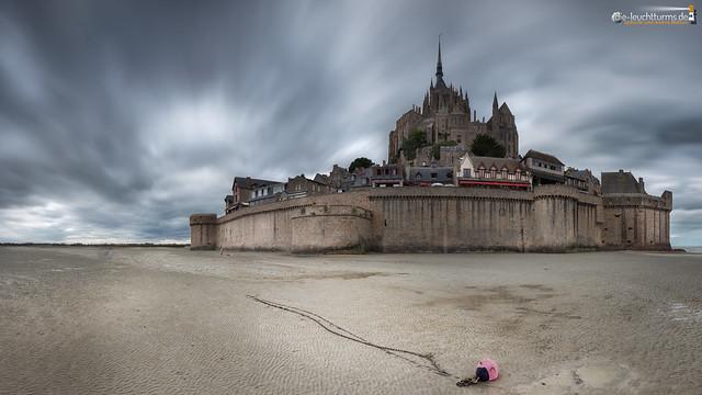 Low tide around Mt. St. Michel