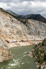 CP (Canadian Pacific), river Thompson, Lytton, 08.06.2018