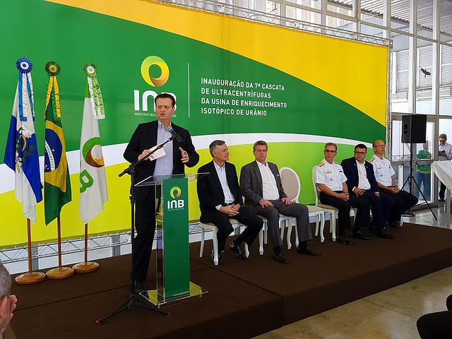 Cerimônia de inauguração da sétima cascata de ultracentrífugas. Resende-RJ. 30/08/2018. Fotos: Divulgação/MCTIC.