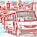 < Tenemos que conseguir el autobús correcto > por Wandering Dom