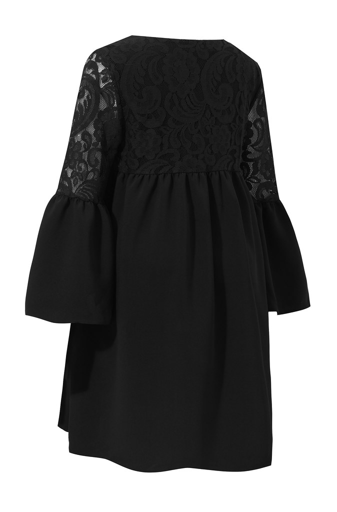 Irina dress black back