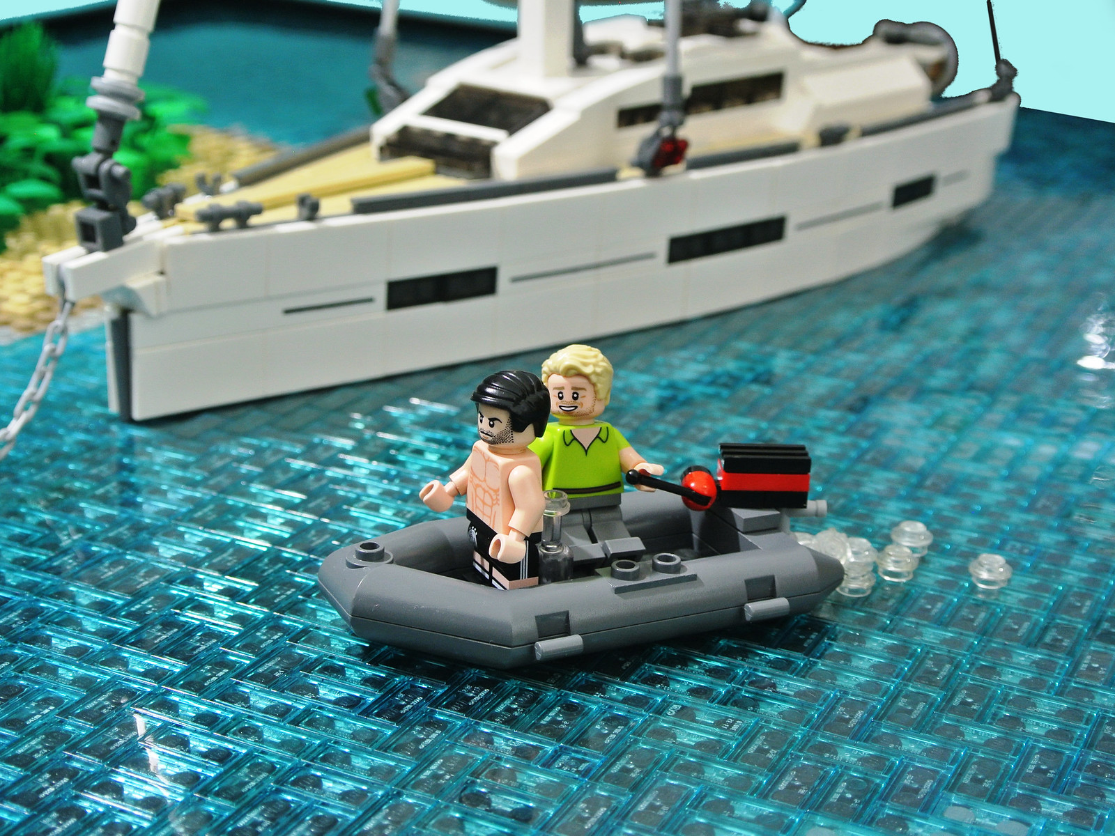 yacht lego creation