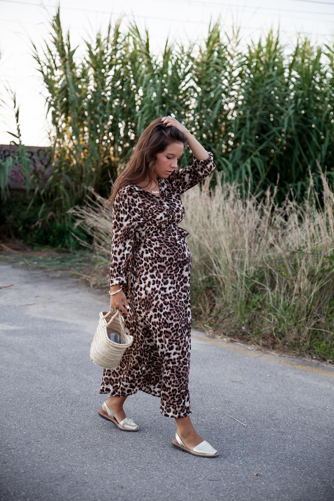 Estampado leopardo embarazada