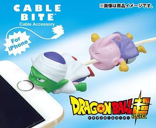再添新角色!CABLE BITE ×《七龍珠超》比克 / 魔人普烏(善) iPhone 充電線保護套 ケーブルバイト ピッコロ / 魔人ブウ