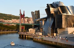 Guggenheim Museum and Puente de La Salve in Bilbao, Spain