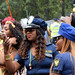 DSC_8556a Notting Hill Caribbean Carnival London Exotic Colourful Costume Girls Dancing Showgirl Performers Aug 27 2018 Stunning Police Ladies