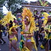 DSC_8535 Notting Hill Caribbean Carnival London Exotic Colourful Yellow Costume with Feather Headdress Girls Dancing Showgirl Performers Aug 27 2018 Stunning Ladies