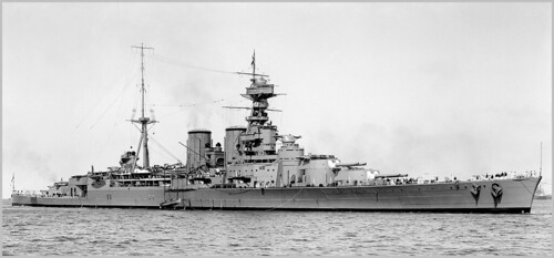 Battlecruiser HMS Hood  at Sydney Australia, March 17th 1924.