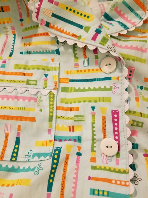 Flute pajamas close-up