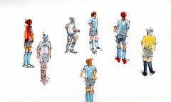 Soccer players sketches