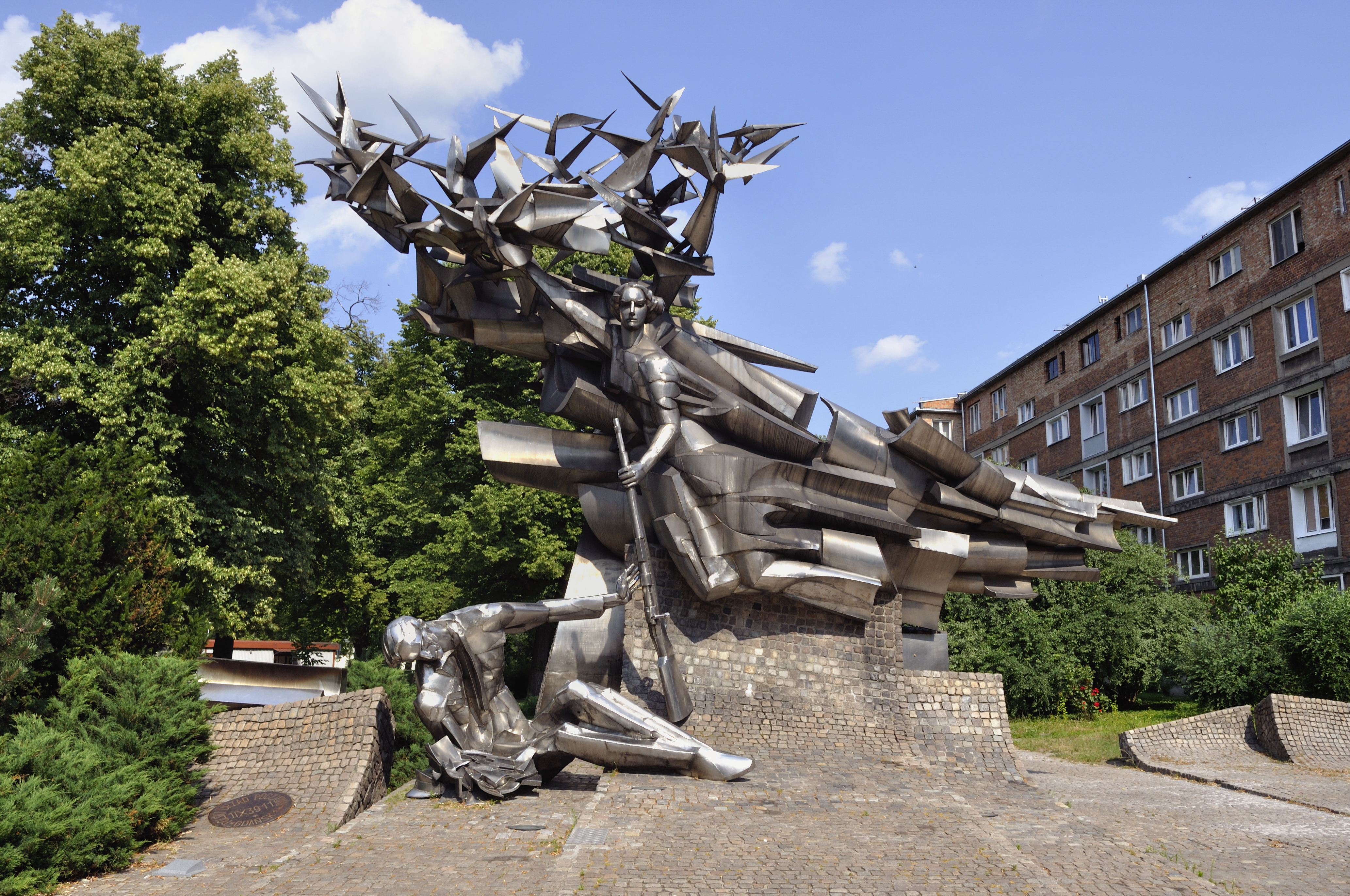 Monument to the Defenders of the Polish Post Office in Gdańsk. Photo taken on July 15, 2010.