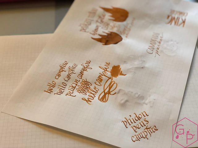 Robert Oster Campfire Ink Review for Phidon Pens 10th Anniversary 6