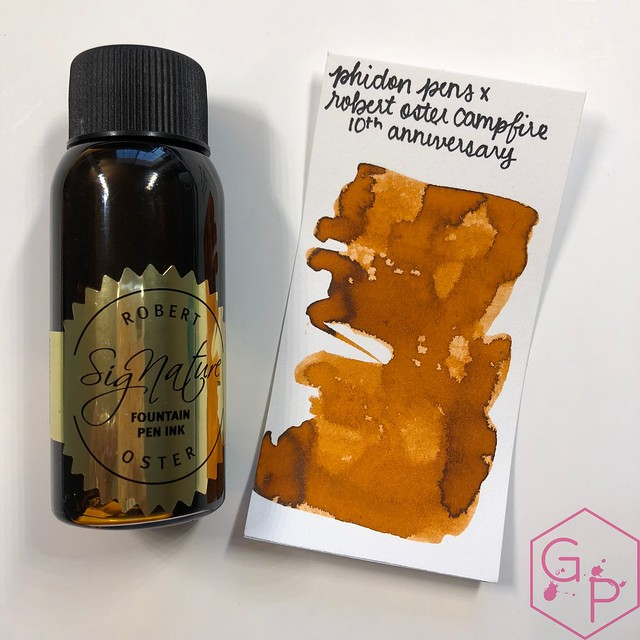 Robert Oster Campfire Ink Review for Phidon Pens 10th Anniversary 1